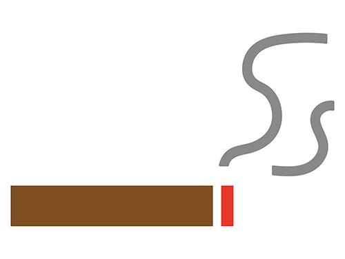 たばこから煙が出ているイラスト
