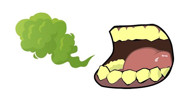 歯の黄ばみによる口臭