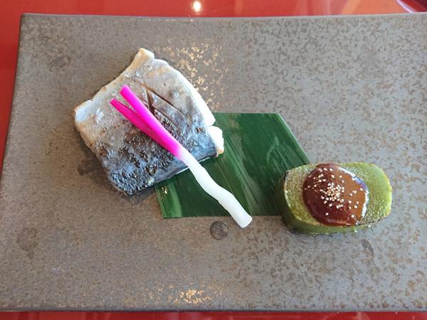 和食に添え付けられたはじかみ生姜